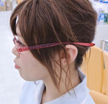 普通のメガネ